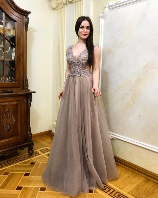 Evening dress 0077-2018